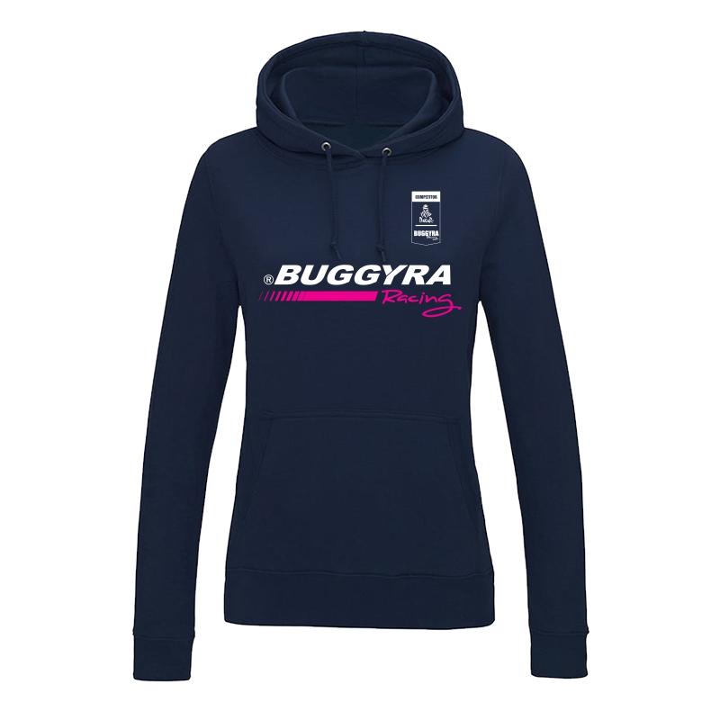Ladie's hoodie with pink stripe Buggyra